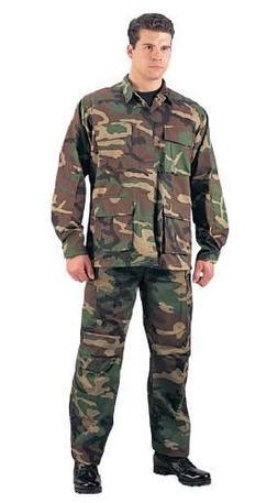 Rothco R/S BDU Shirt, Woodland Camo, Medium
