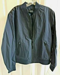 Rag & Bone Men's Navy Blue Nylon Tech Bomber Jacket Medium N