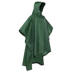 Terra Hiker Rain Poncho, Waterproof Raincoat with Hoods for