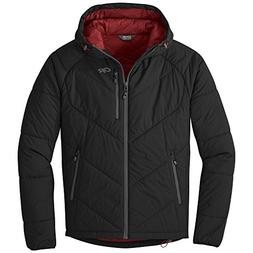 Outdoor Research Men's Refuge Hooded Jacket, Black, Medium
