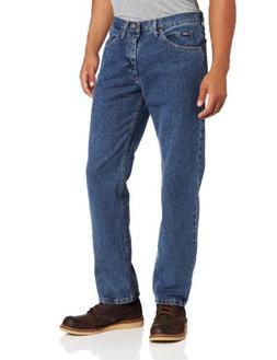 Lee Men's Regular Fit Straight Leg Jean, Medium Stone, 30W x