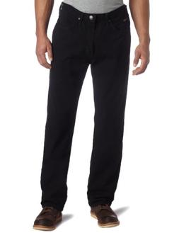 Lee Men's Relaxed Fit Straight Leg Jean, Double Black, 28W x