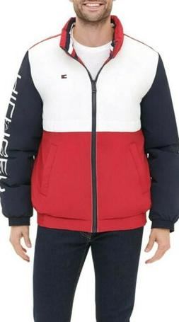 Tommy Hilfiger Retro Colorblock Stand Collar Performance Puf