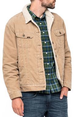 LEE Rider Men Sherpa Fur Collar Jacket Warm Lined Corduroy J