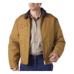 Dickies Men's Rigid Duck Blanket Lined Jacket, Brown Duck, E