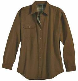 River's End Canvas & Flannel Shirt Jacket Mens  Coats Jacket