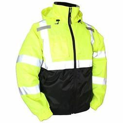 Tingley Rubber J26112 Class 3 Bomber II Jacket Small Lime Gr