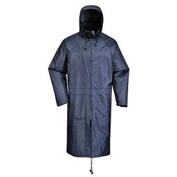 Portwest S438NARXXL Classic Rain Coat, Fabric, Xx-Large, Nav