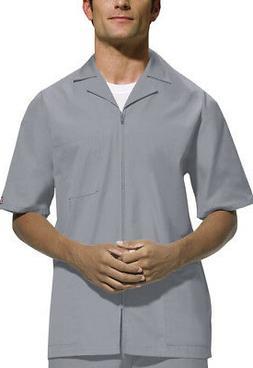 Scrubs Cherokee Workwear Men's Zip Front Jacket 4300 Grey