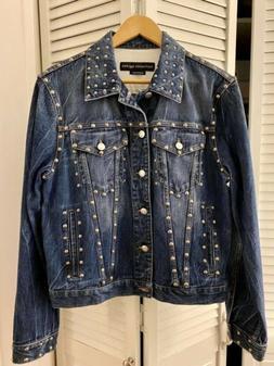 Alexander McQueen Signature Studded denim jacket Men Size 48