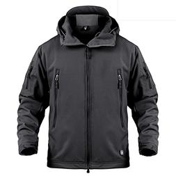 LASIUMIAT Men's Special Ops Softshell Jacket Fleece Coat Mil