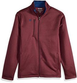 IZOD Men's Spectator Solid Fleece Jacket, Fig Heather, X-Lar