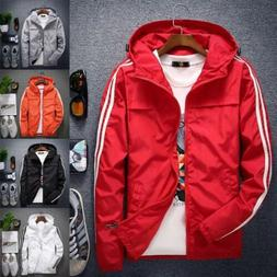 Spring Autumn Men's Hooded Coat Jackets Fashion Hooded Sport