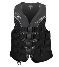 O'Neill  Men's Superlite USCG Life Vest, Black/Black/Smoke/W