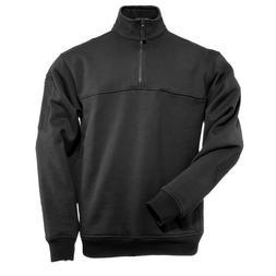 5.11 Tactical Job Shirt 1/4 Zip,Black,Large
