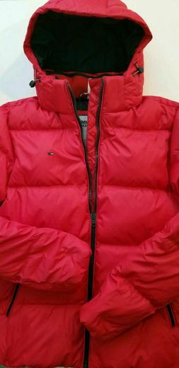 Tommy Hilfiger TH Winter Jacket Puffer Hooded Coat Red Men's