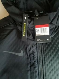 Nike Therma Men's Full-Zip Hooded Training Jacket Black Size