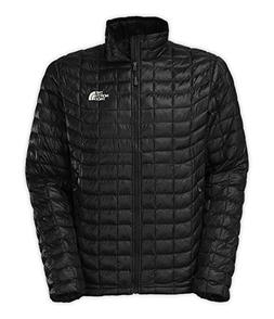 The North Face Mens Thermoball Full Zip Jacket Black Ink Gre