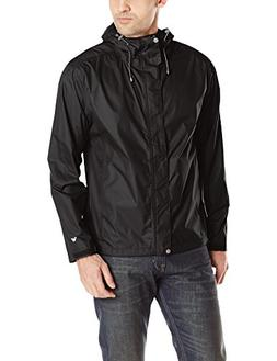 White Sierra Men's Trabagon Rain Shell, Black, Large