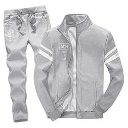 tracksuit sets mens shirts clearance zipper leisure