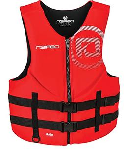 O'Brien Men's Traditional Neoprene Life Jacket, Red, Small
