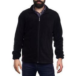 Alpine Swiss Trent Mens Full Zip Up Fleece Jacket Soft Casua