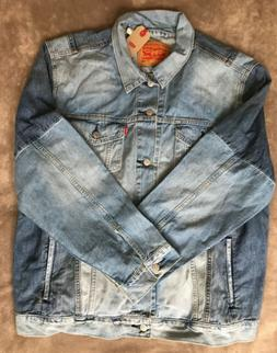 Levis Trucker Jean Jacket Mens Denim  Pieced Lightweight NEW