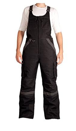 Arctix Men's Overalls Tundra Bib With Added Visibility, Blac
