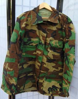 U.S.Military Woodland Camo Combat Coat/Jacket Size L/XL/Long