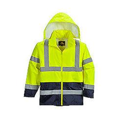 Portwest UH443 Hi-Vis Class 3 Yellow/Black Stow Away Hood Co