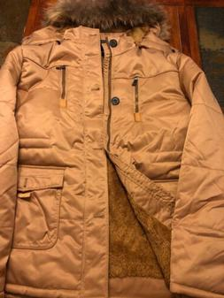 Unisex Fur Jacket with Removable Fur Hood XXL