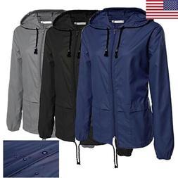 US Men Light Jacket Waterproof Hoodie Outdoor Hiking Windbre