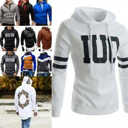 US Men Winter Pullover Hoodie Warm Hooded Sweatshirt Coat Ja