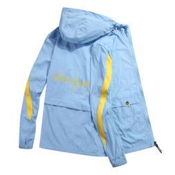 US Mens Sport Jacket Waterproof Windbreaker Gym Zipper Coat