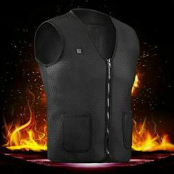 USB Thermal Electric Vest Heated Cloth Jacket Warm Pad Winte