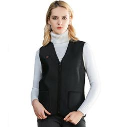USB Thermal Electric Vest Heated Cloth Jacket Warm Heated Pa