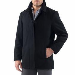 vance mens jacket wool blend button up
