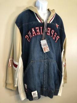 vintage 1990s london pjl denim jacket hooded