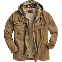 Legendary Whitetails Men's Voyager Hooded Shirt Jacket Oak X