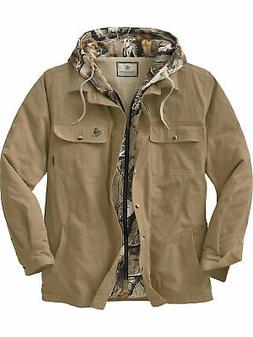 Legendary Whitetails Men's Voyager Hooded Shirt Jacket Oak M