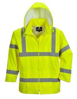 Portwest Waterproof Rain Jacket Lightweight Yellow 3X-Large