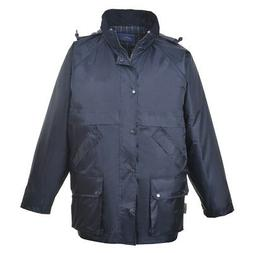 Waterproof Rain Jacket, Padded Insulated Mens Coat, Multi Po