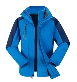 Phibee Mens Waterproof Windproof Outdoor Fleece Ski Jacket