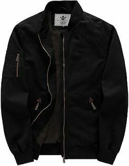 WenVen Men's Cotton Casual Military Bomber Jacket