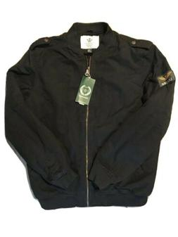 Wenven Men's Winter Fleece Insulted Air Force Bomber Jacket