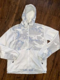 The NORTH FACE White Camo Denali 2 Hooded Fleece Jacket New