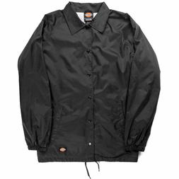 Dickies Windbreaker Men's Nylon Coaches Jacket Black Style #