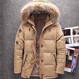 Winter Big Genuine Fur Hood Duck <font><b>Down</b></font> <f