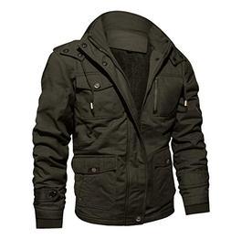 CRYSULLY Men's Winter Fleece Warm Stylish Classic Cargo Jack
