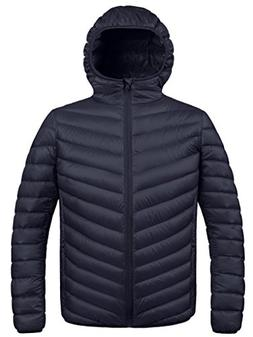 winter hooded packable down jacket